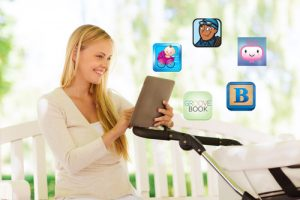 young-mom-using-parenting-apps