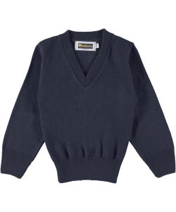 blueberry-v-neck-sweater