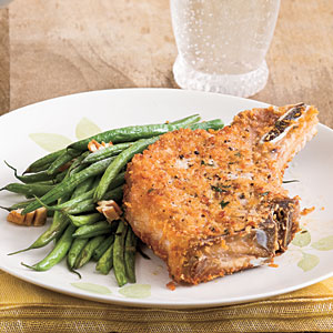 crusted-pork-chops-and-beans