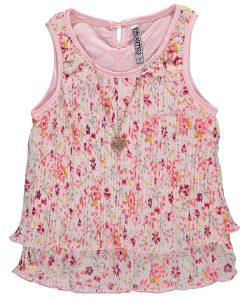 beautees-pleated-tank-top-with-necklace