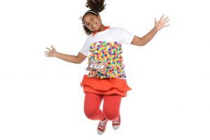 girl-jumping-dressed-as-gumball-machine