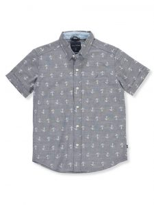 nautica-anchor-print-button-down-shirt